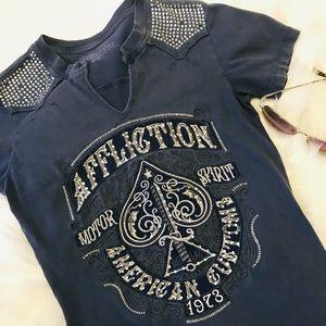 Affliction Women's tee XS